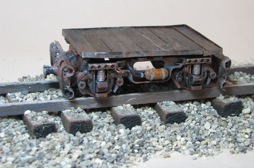 Mine Truck with Deck on some rails