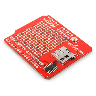 Sparkfun MicroSD Card Shield with Protoboard Area