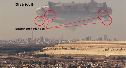 District 9 Flying Saucer with Spatchcock Flanges identified