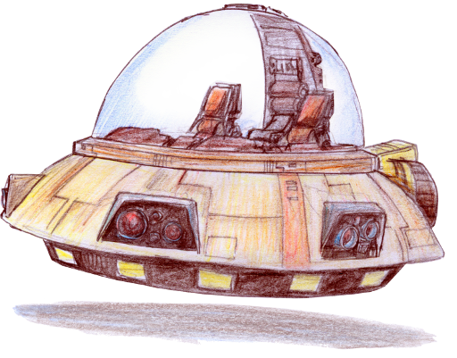 Concept sketch of the Model Flying Saucer