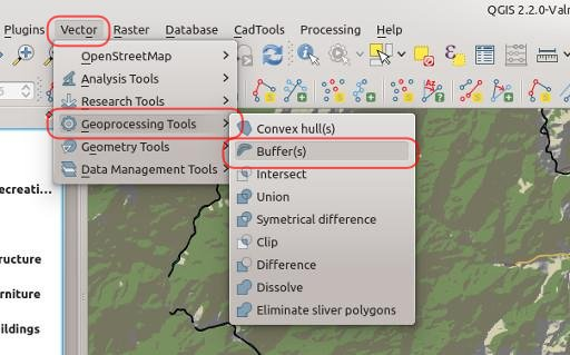 Creating Buffer Zones in QGIS