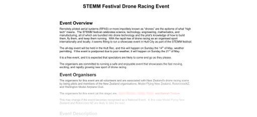 Drone Race Health and Safety Plan Thumbnail