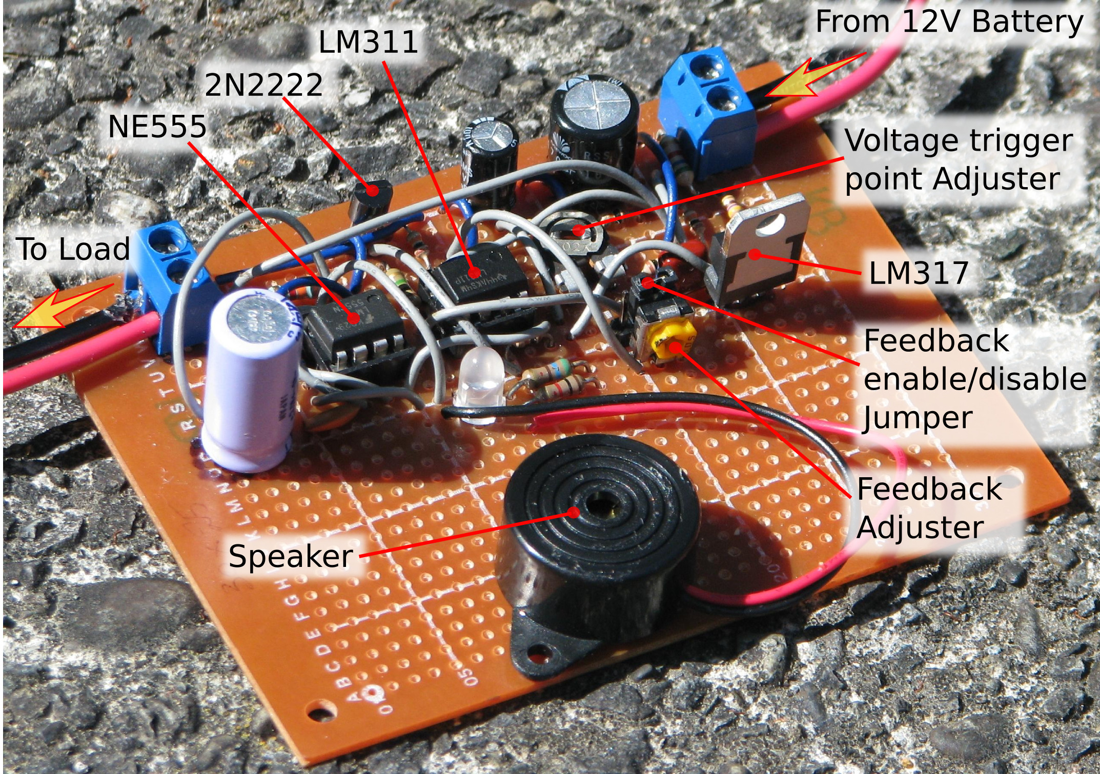 12v Lead Acid Battery Monitor Circuit Photo Of The