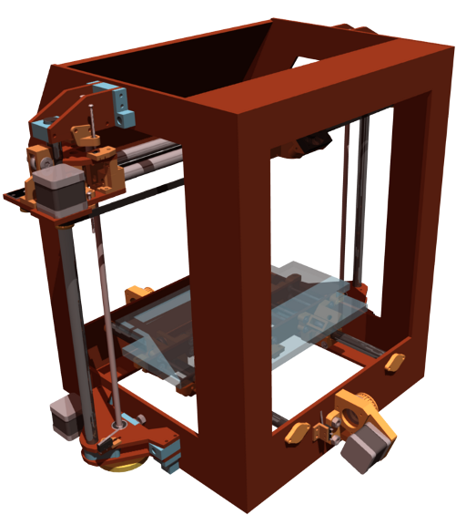 A rendering of the Beigebot 3D Printer