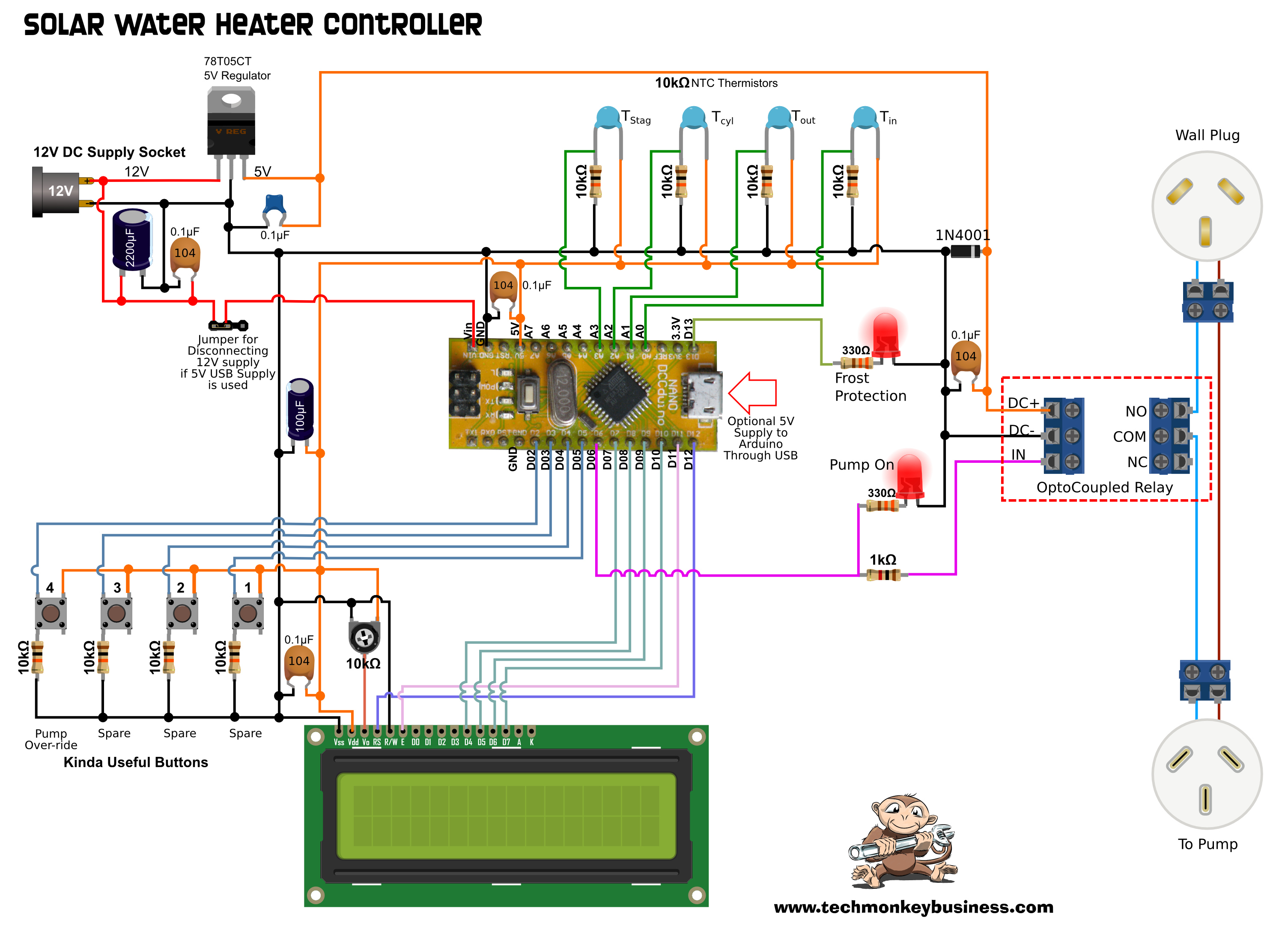 The Solar Water Heater Controller In Real World Fantastic Item For Testing 6 12v Circuits Circuit Schematic