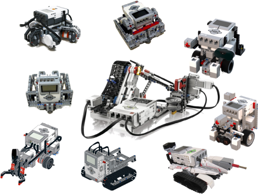A Selection of Lego Mindstorms EV3 bots