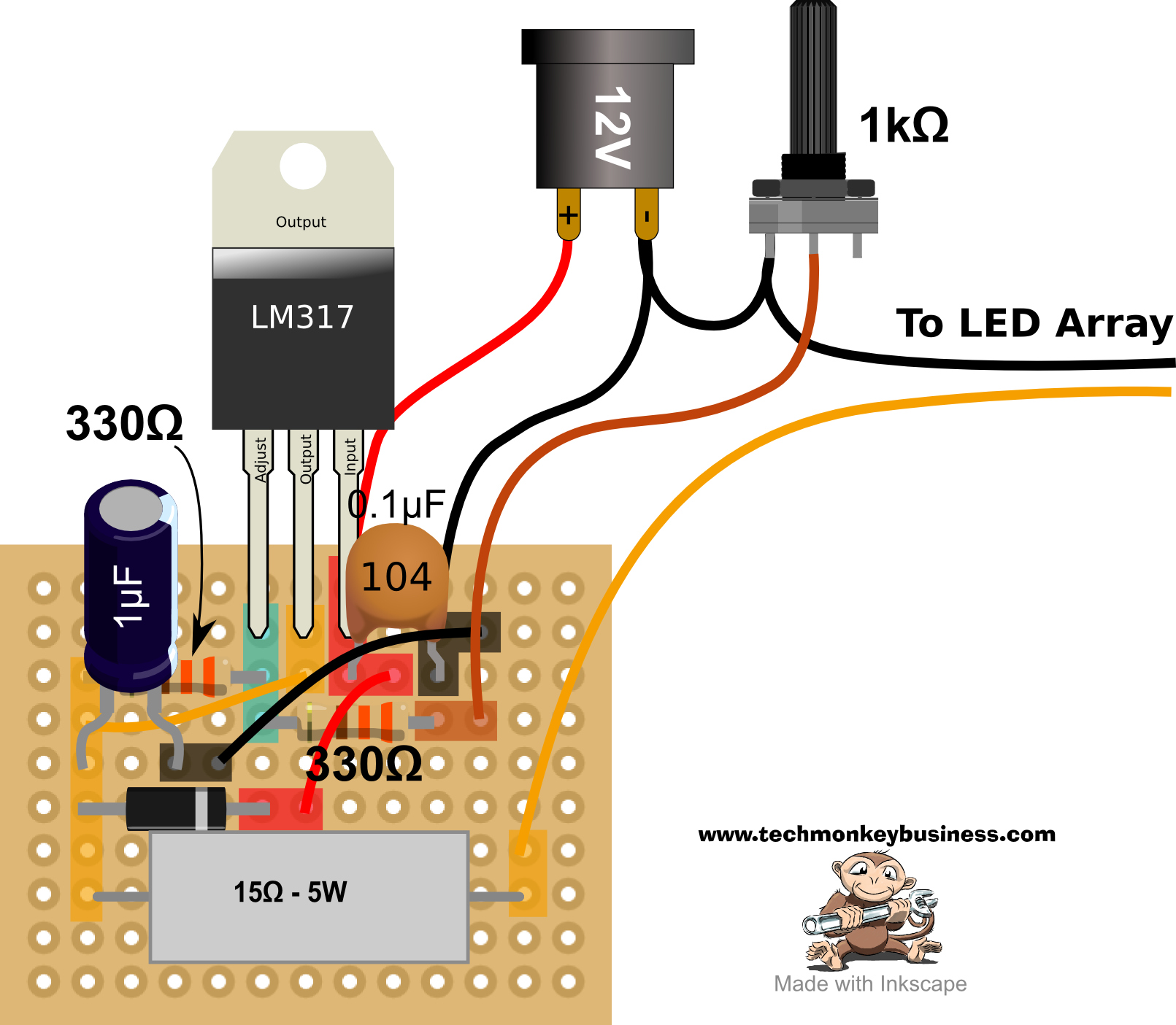 Led Desklamp Hack Finally Here Are My Perfboard Layouts And Some Pictures Layout For The