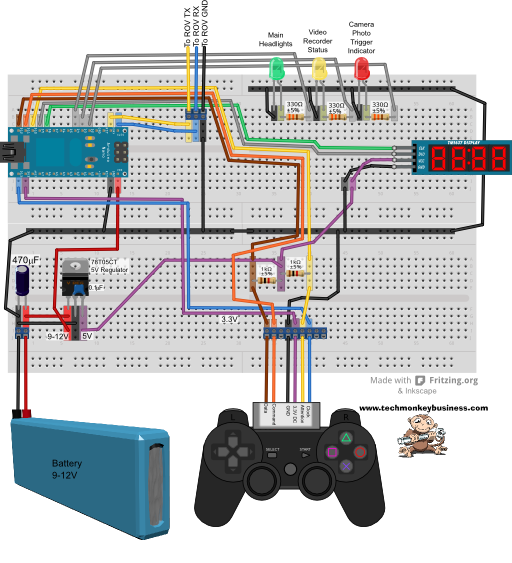 Topside Circuit Breadboard layout