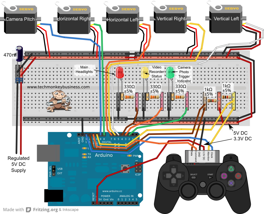 Ps controller sketch for escs and stuff