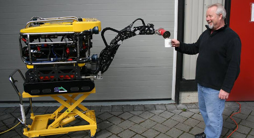 Roy Coles shares a coffee with his ROV